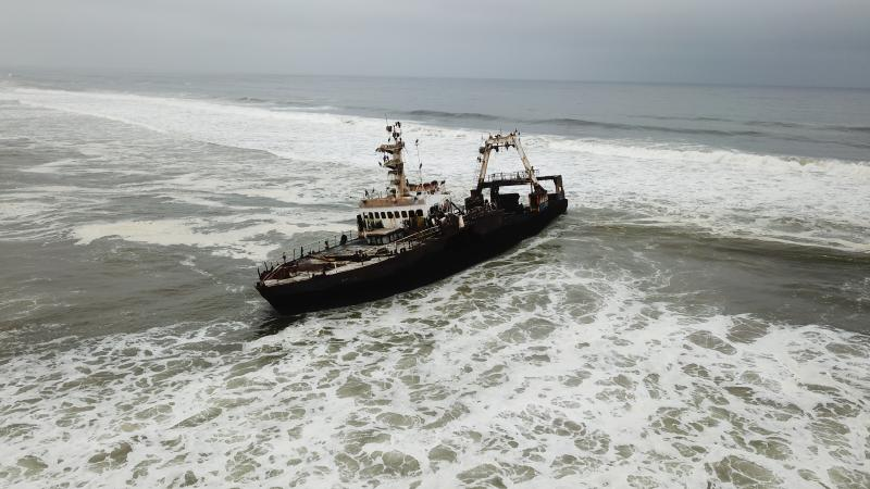 Shipwreck Zeila, Skeleton Coast near Henties Bay